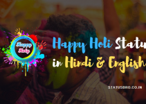 happy holi status in hindi & english